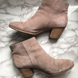 Nicole Taupe Tan Ankle Heeled Bootie